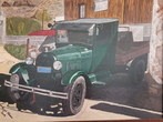 Small oldtimertruck in oatman 60 x 80 cm malkunst acryl
