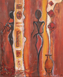 Small african night malkunst acryl